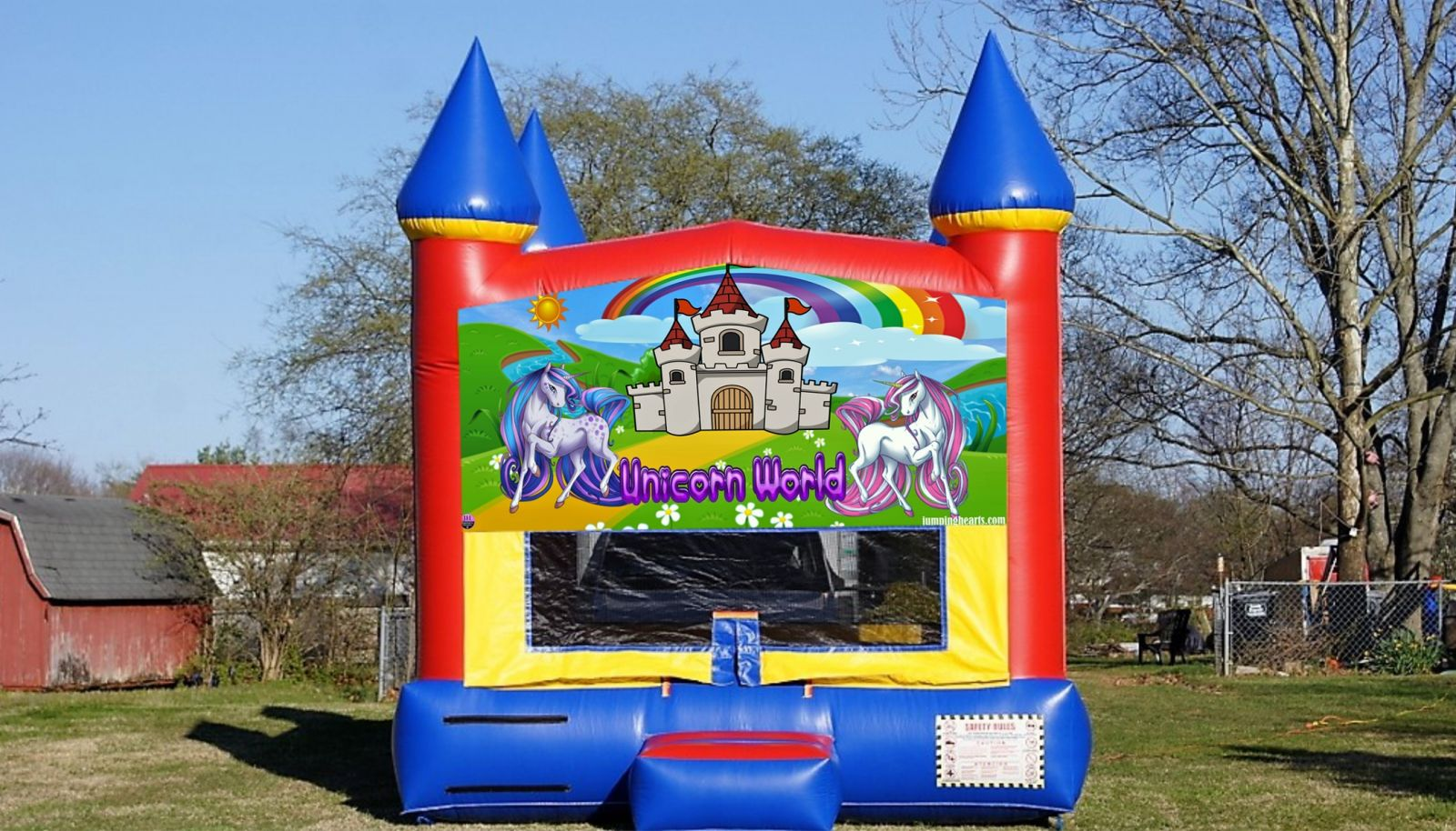 Unicorn Bounce House rental jumping hearts party rentals Nashville TN