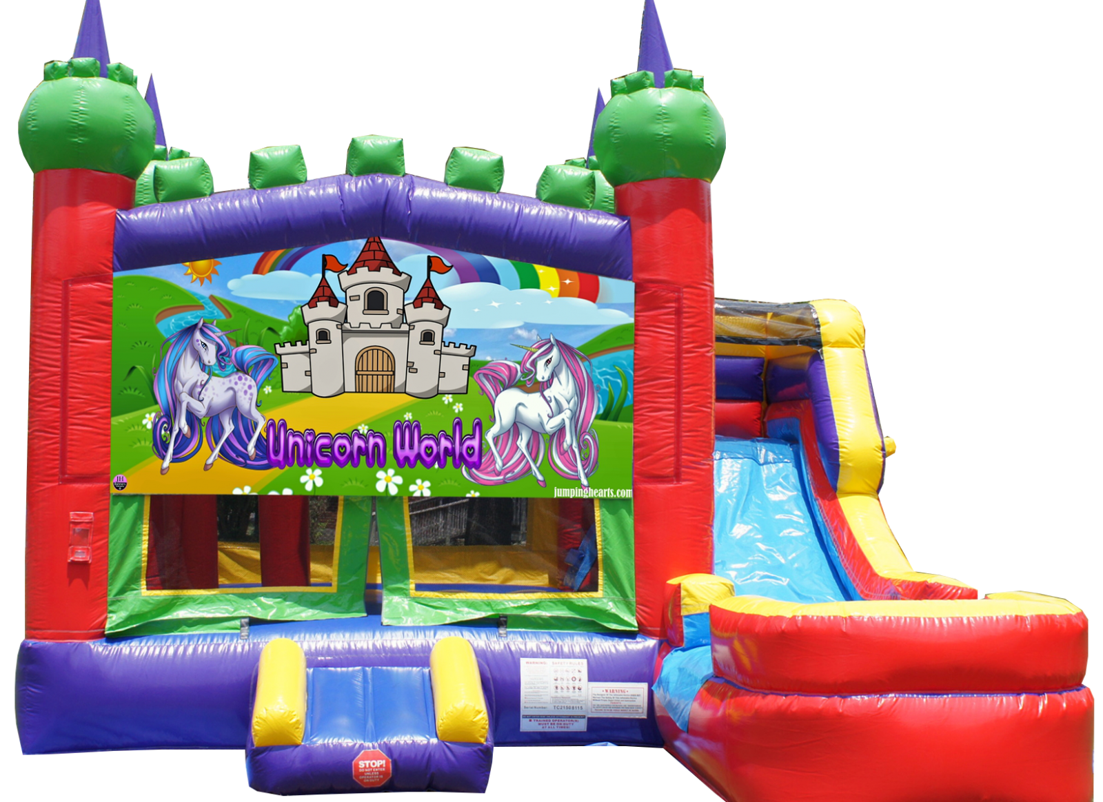 Unicorn Combo Bounce House for rent Nashville TN Jumping Hearts Party Rentals
