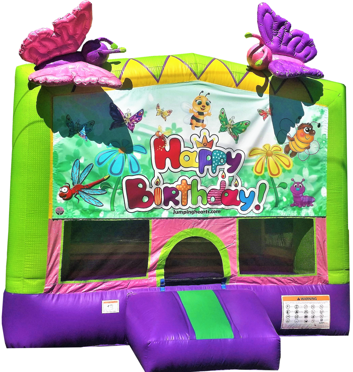 Butterflies bounce house little girl bounce house rental Nashville TN Jumping Hearts Party Rentals