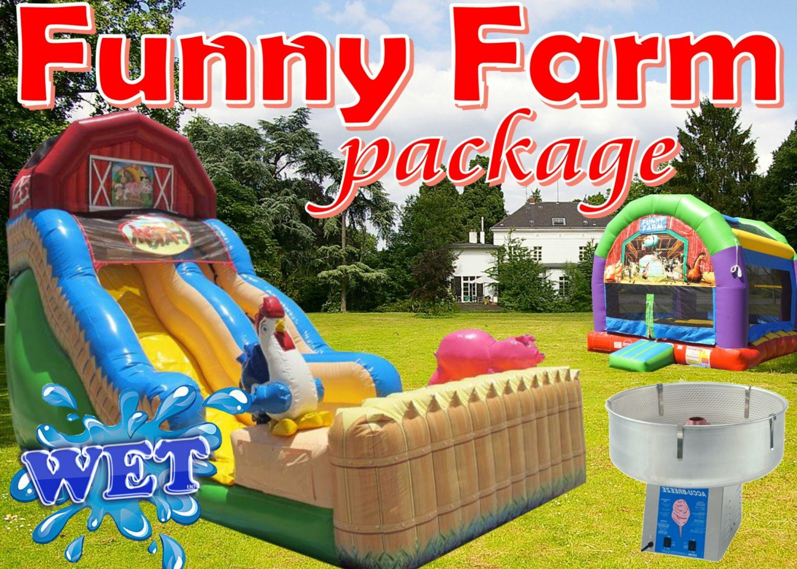 Funny farm party package Nashville TN jumping hearts party rentals