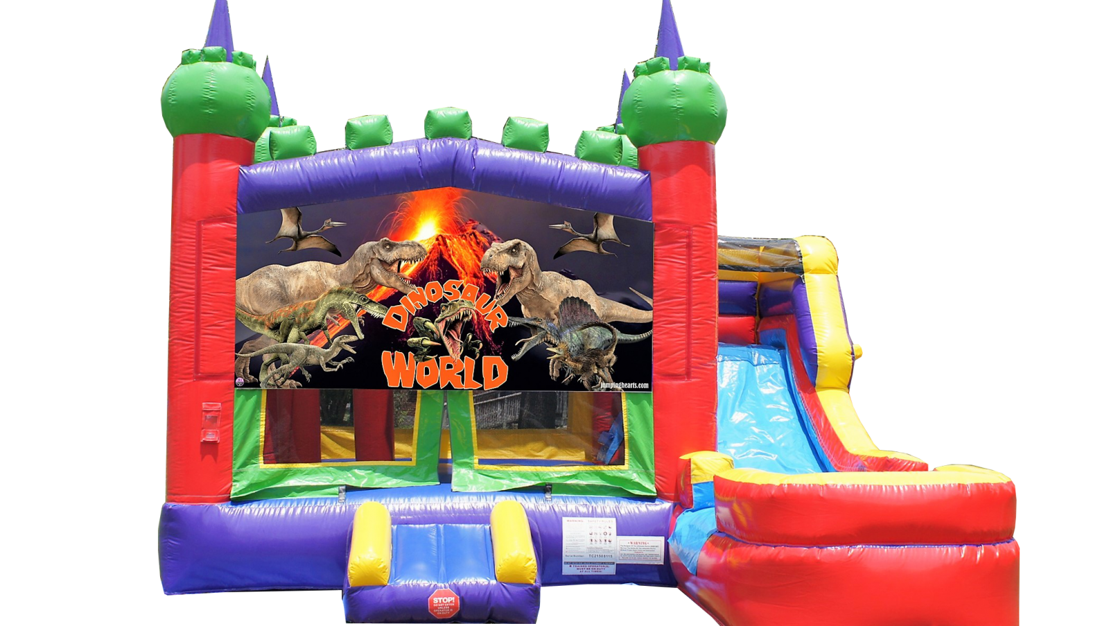 Dinosaur Bounce House for rent in Nashville TN Jumping Hearts Party Rentals