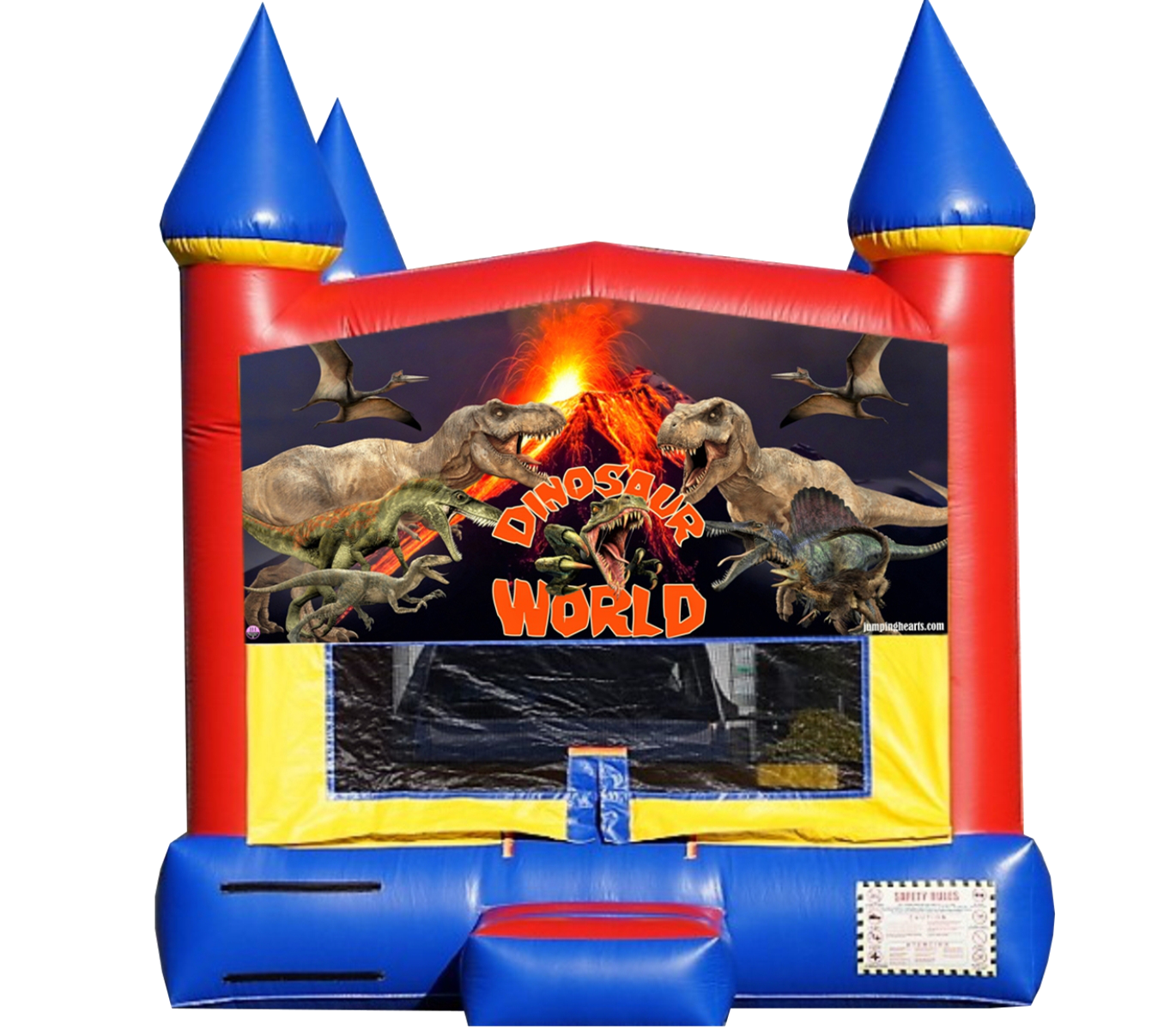 dinosaur bounce house rental Nashville TN / jumping hearts party rentals