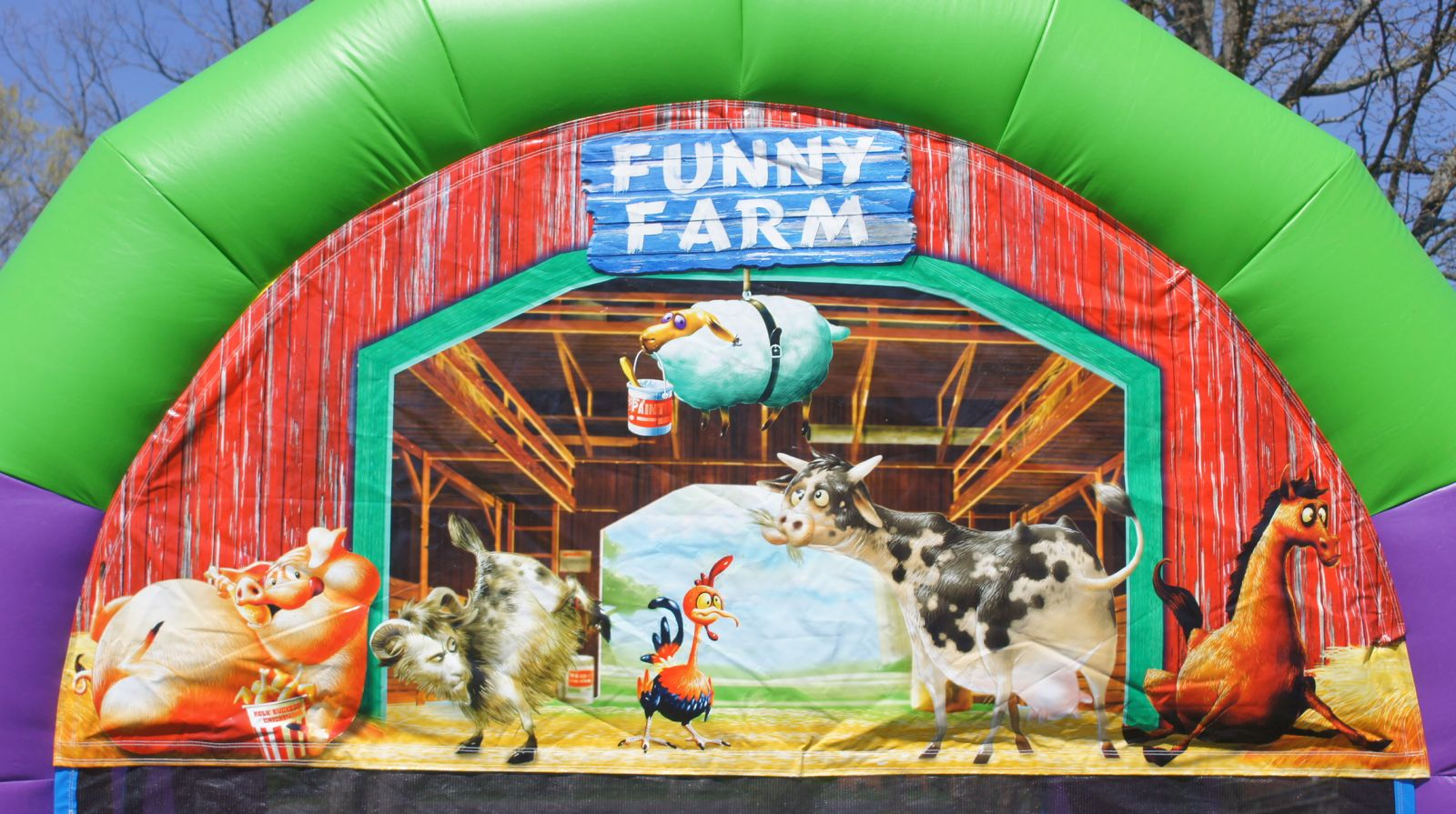 Funny Farm Bounce House Rental Nashville TN Jumping Hearts Party Rentals