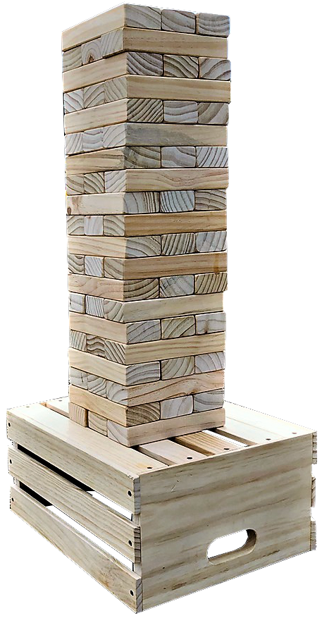 Giant jenga game rentals Nashville Tn Jumping Hearts Party Rentals