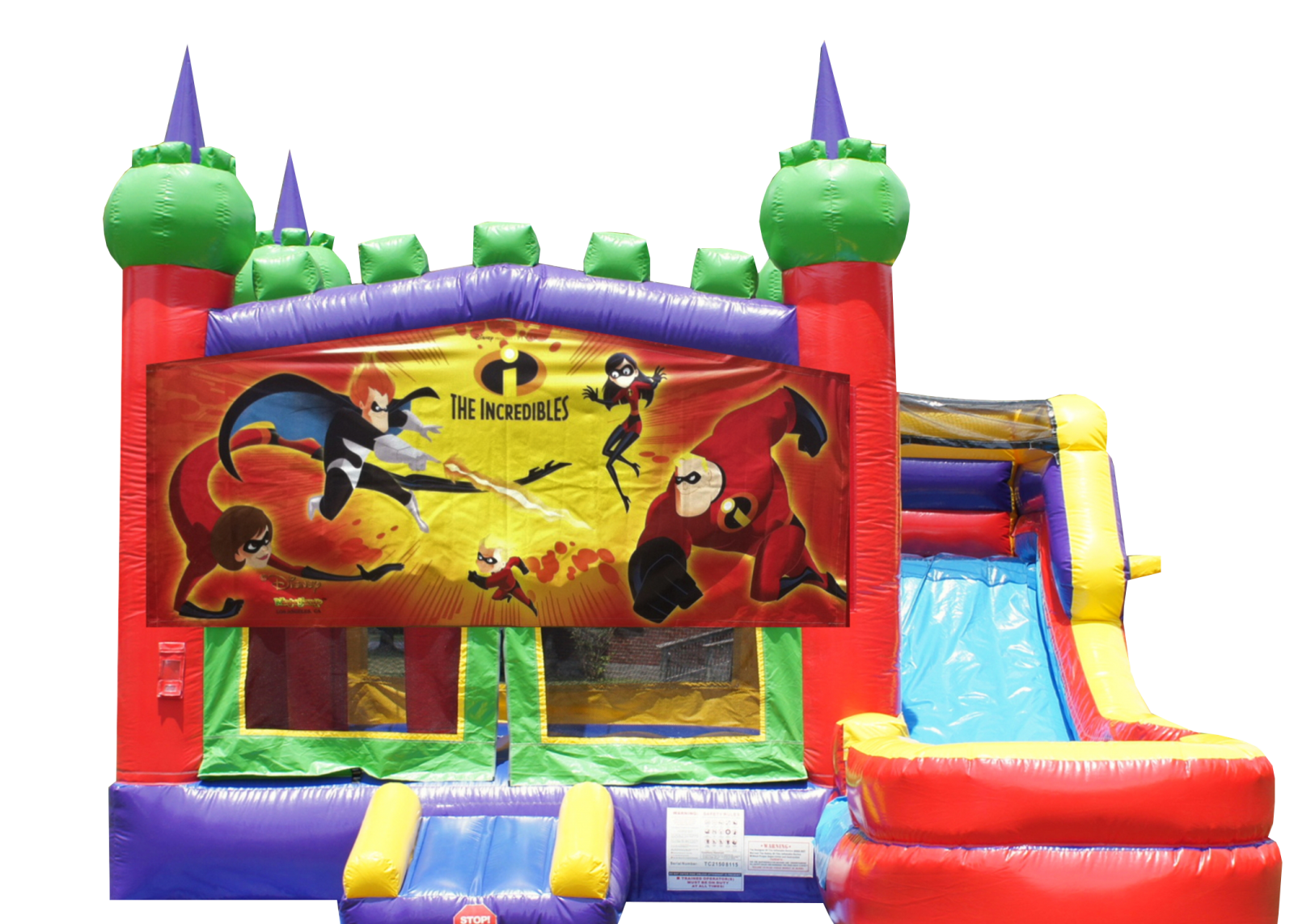 The Incredibles bounce house combo for rent Nashville Tn Jumping Hearts Party Rentals