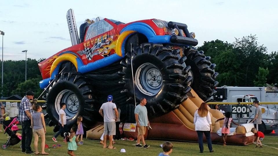 Monster Truck Bounce House For rent Nashville TN Jumping Hearts Party rentals