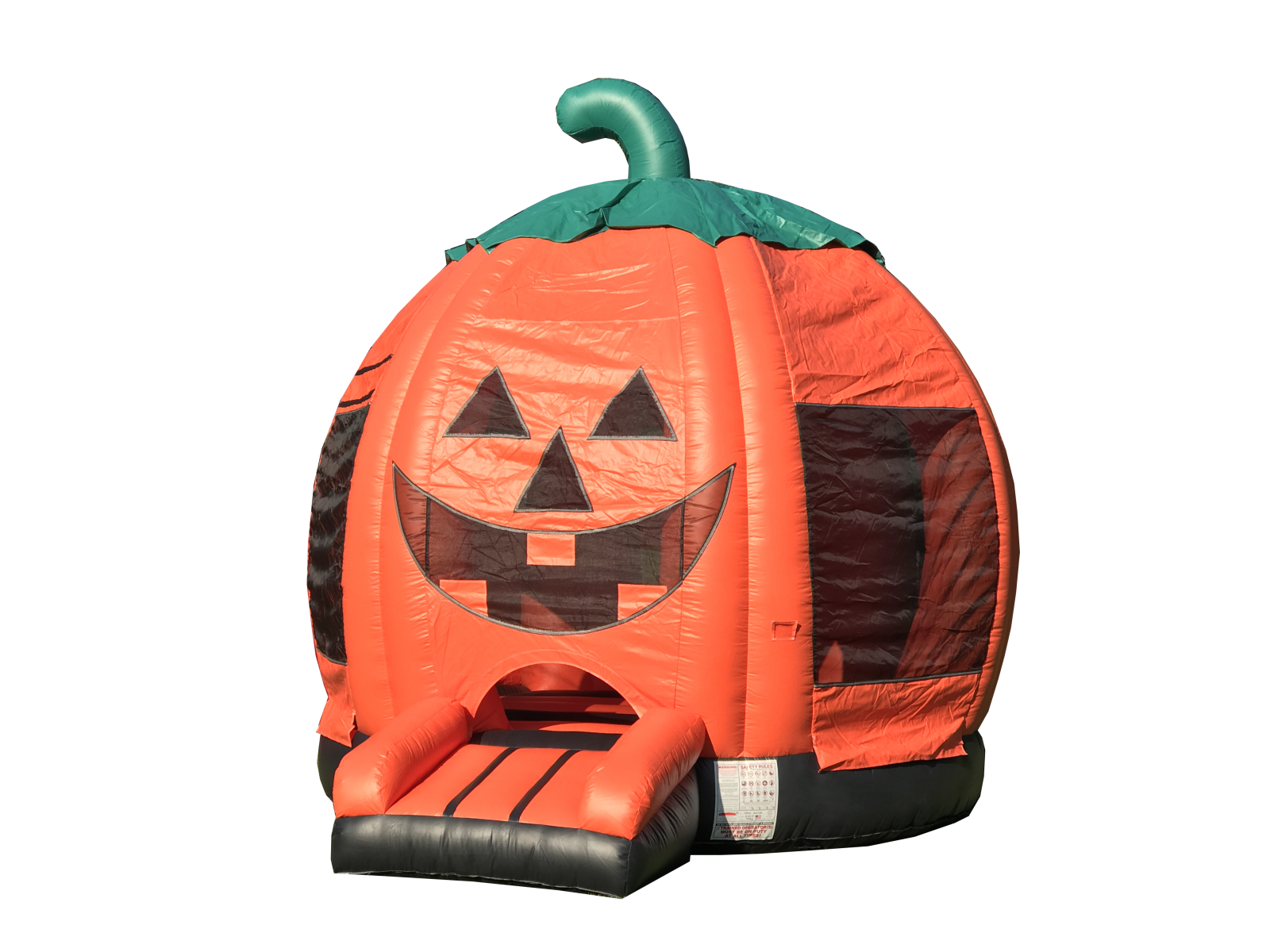 Halloween Bounce House Pumpkin bouncy house Jack-o-lantern Bouncer for rent Nashville Tn Jumping Hearts Party Rentals