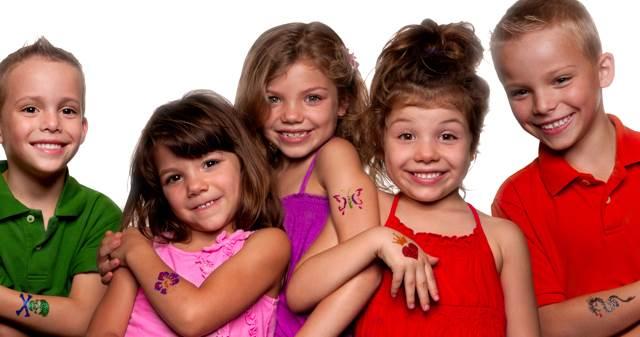 glitter tattoos Nashville | Jumping Hearts Party Rentals