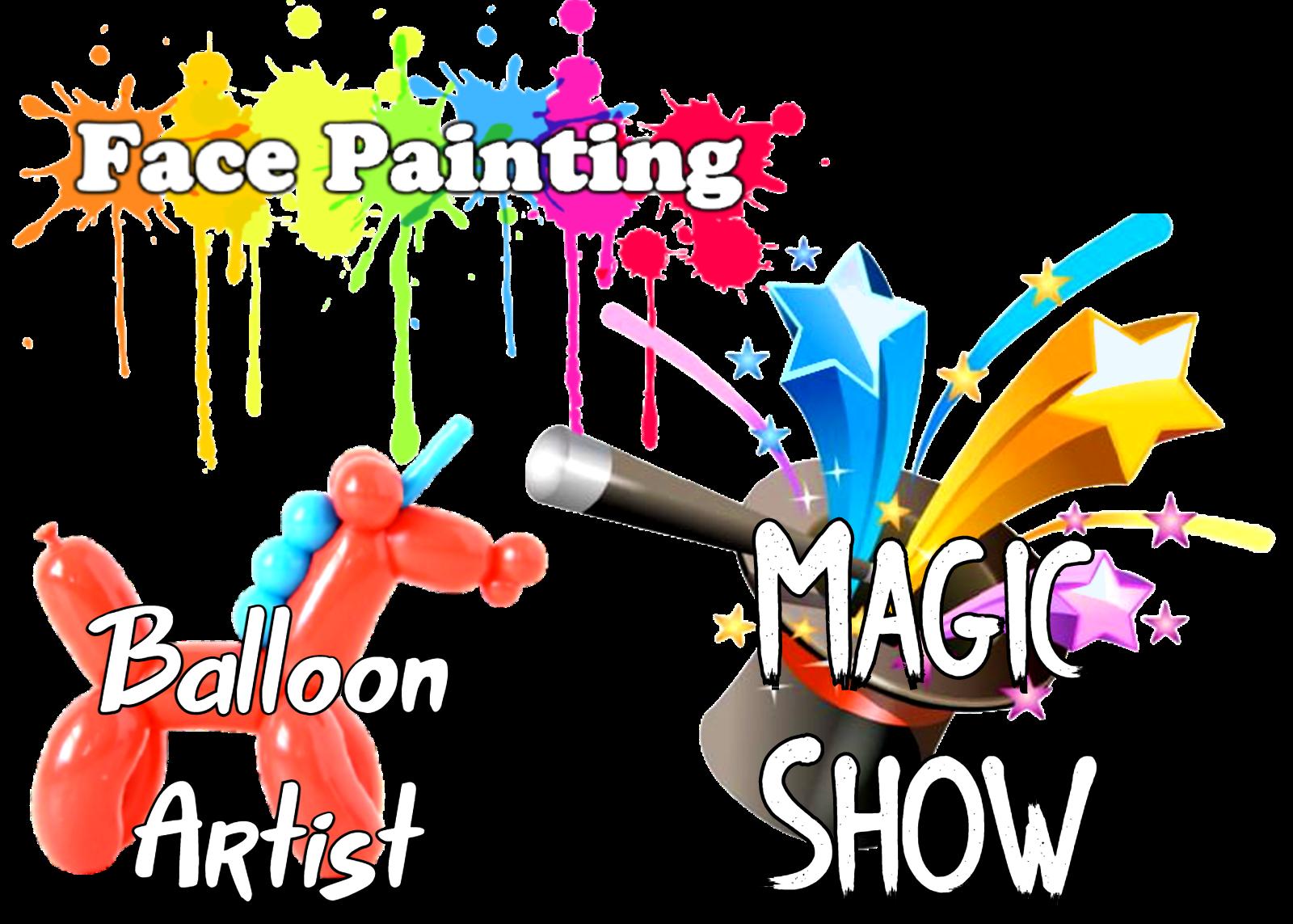 Nashville face painting, balloon twisting Nashville, Nashville Magic Show | Jumping Hearts Party Rentals