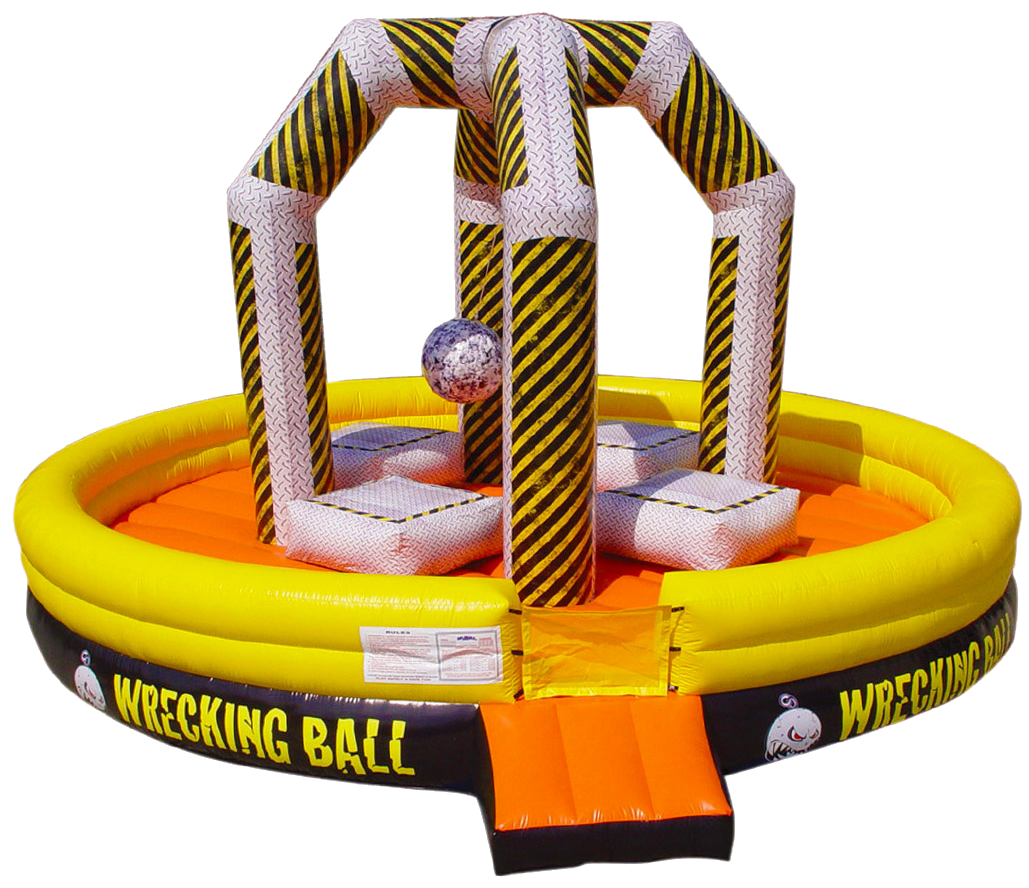 Inflatable Wrecking ball interactive game rentals Murfreesboro