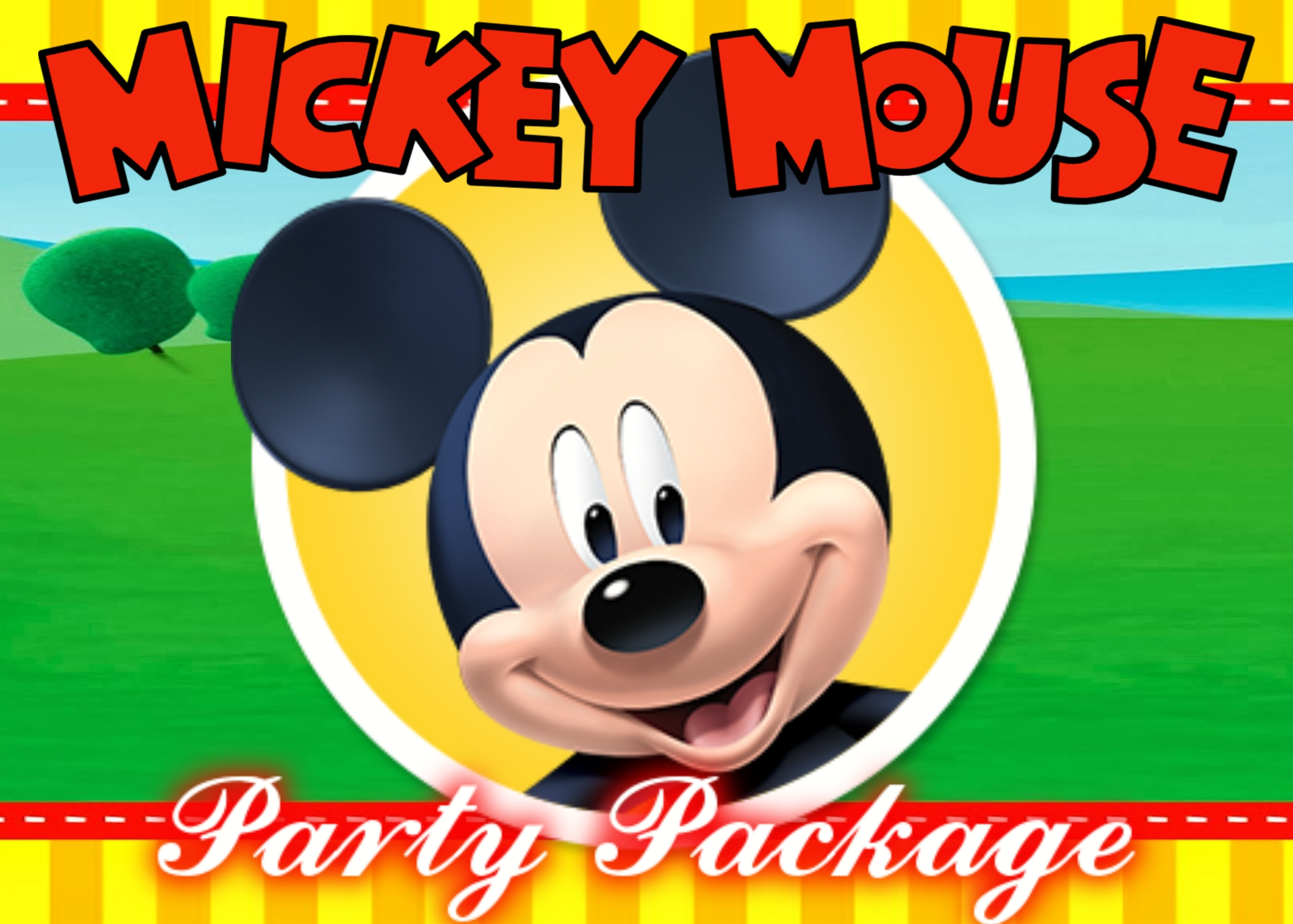 Mickey bounce house package rentals