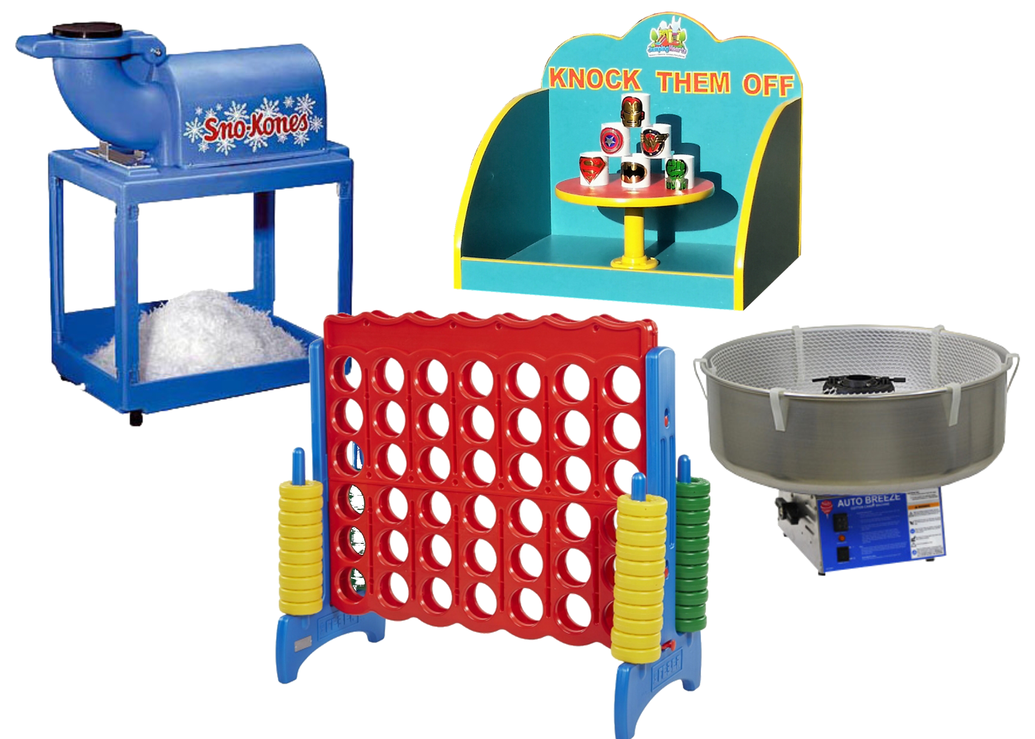 Concession machine rentals and carnival game rentals