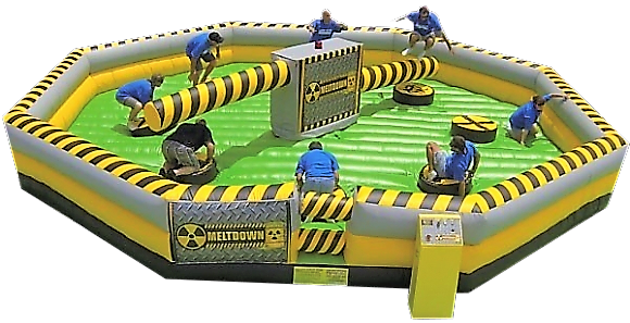 The meltdown inflatable game rentals Murfreesboro