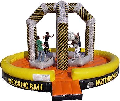 wrecking ball inflatable game rentals Nashville