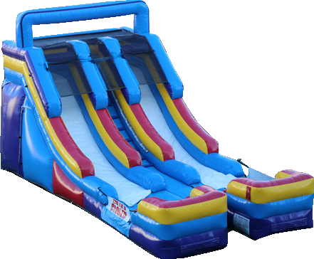 15' Double Splash Inflatable Slide (DRY)