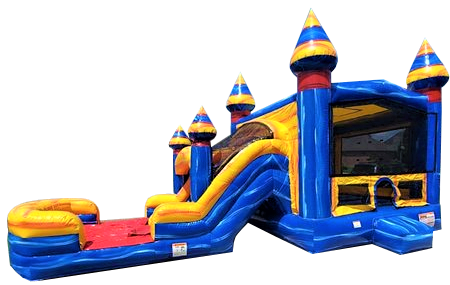 Electric Blue Combo Bounce House