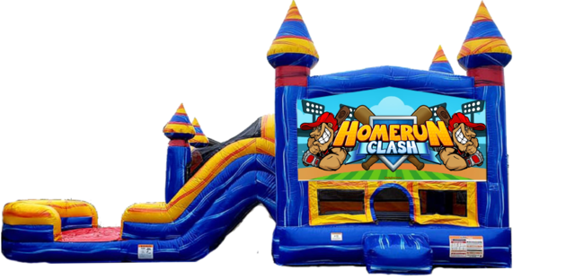 Baseball Home Run Combo Bounce House (WET)
