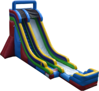 "<strong><span style=""color:#0000ff;"">22ft Single Lane Inflatable Dry Slide"
