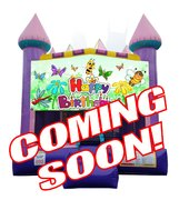 "<strong><span style=""color:#0000ff;"">Flowers and Friends Bounce House"