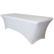 6' table with spandex cover