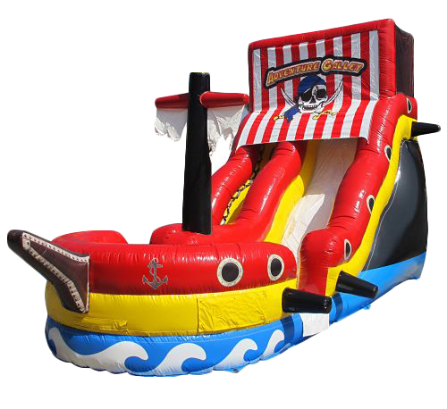18' Pirate Ship Inflatable Slide (DRY)