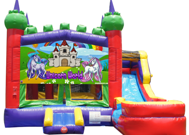 Unicorn Combo Bounce House