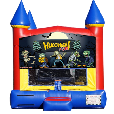 Zombie Night Halloween Bounce House