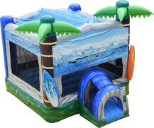 Surfs Up Misting Bounce House Dry