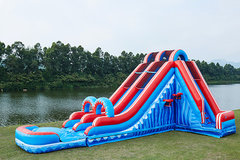 Flash Dual Lane 20' Waterslide