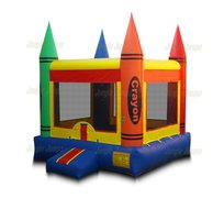 Crayon Large Bounce House