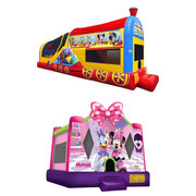 Mickey Mouse Train and Minnie Bounce House