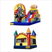 Justice League Challenge  and Bounce House