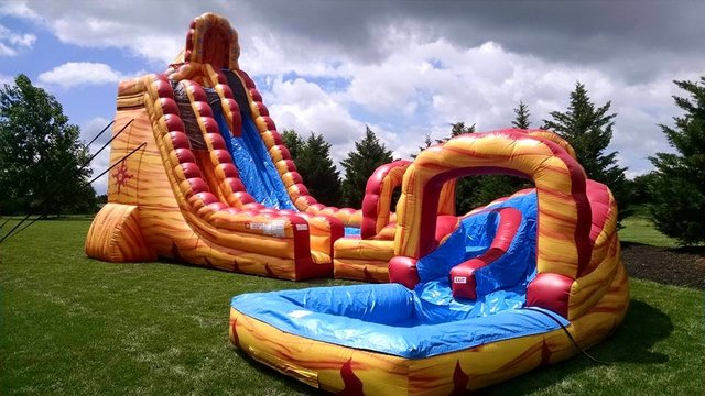 27 FOOT LAVA TWIST WATER SLIDE