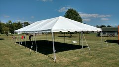 20X40 FRAME TENT CONCRETE SURFACE SET UP (WEIGHTED)