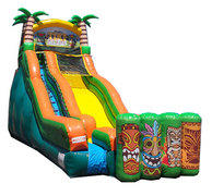 19 FOOT TIKKI ISLAND WATER SLIDE