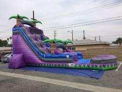 22 FOOT PURPLE PARADISE WATER SLIDE