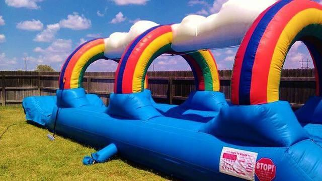 24' Rainbow Slip N Slide