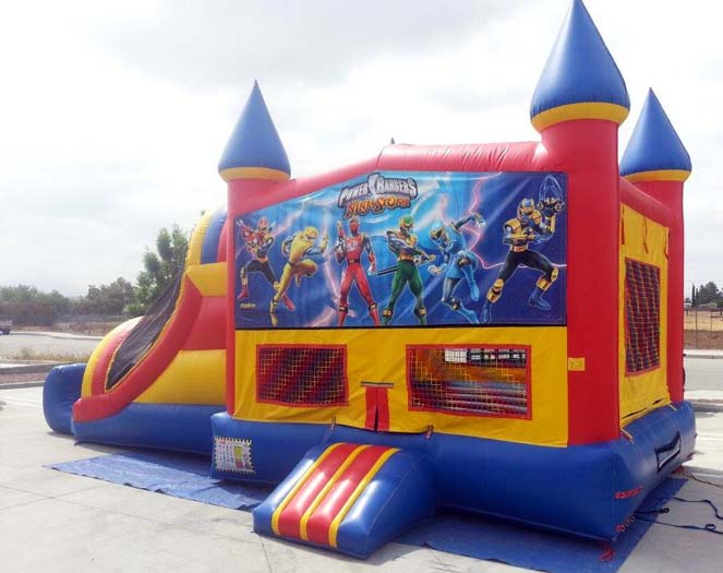 Power Rangers Castle Inflatable Combo Rental Riverside County