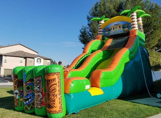 20 Ft Tiki Island Waterslide  (Item 345)