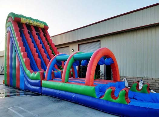 27 Ft Rainbow Triple Lane Extreme Water Slide (Item 346)
