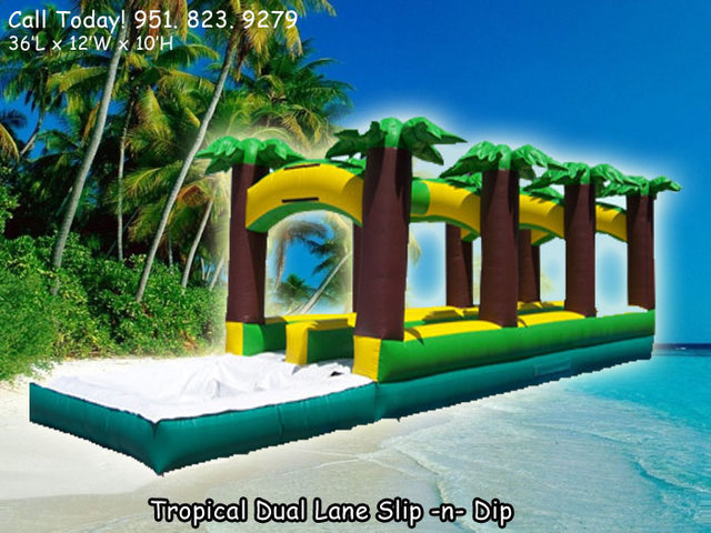 Green Tropical Dual Ln Slip N Dip (Item 605)
