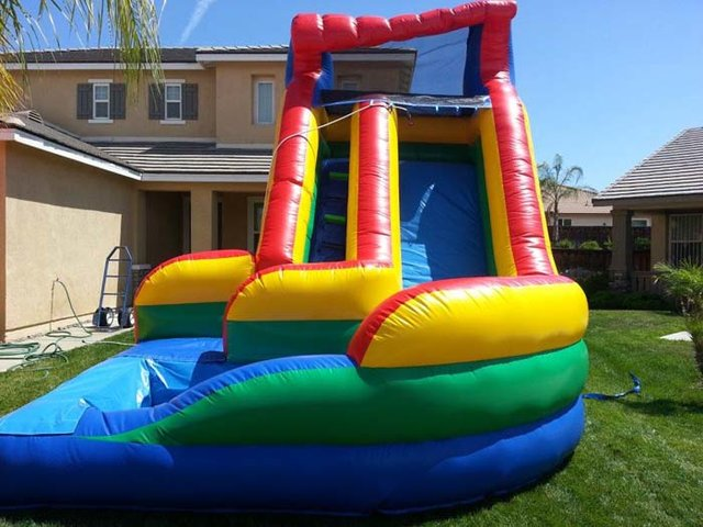 16 Ft Rainbow Curvy Water Slide (Item 340)