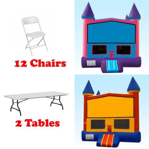 Any Standard Choose Your Theme Jumper 2 Tables 12 Chairs