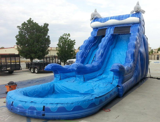 20 Ft Blue Dolphin Water Slide (Item 305)