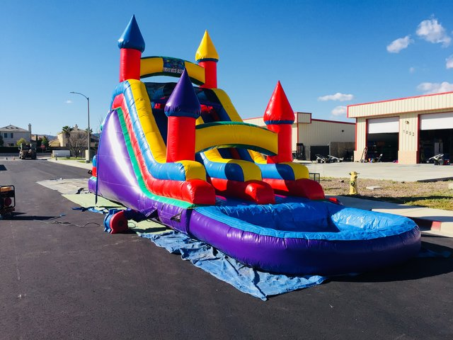 20 Ft Dual Ln Wacky Back Load Water Slide (Item