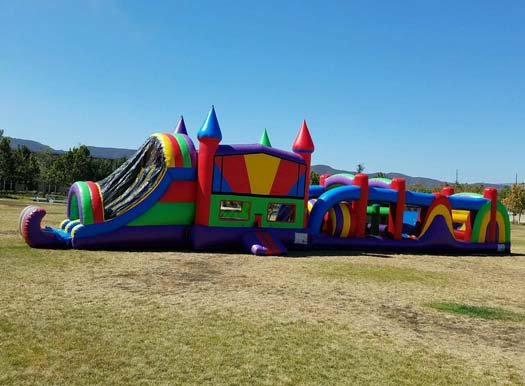 4N1 Wacky w/45 Ft Obstacle W/Pool  (Item 702)