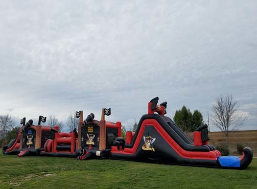 120 Ft Pirates Obstacle Challenge with 2 Pools!
