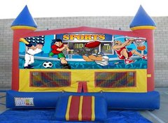 Sports Theme Inflatable W/Hoop (Item 112)