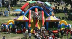 Circus City Item (901)Triple Slide with 2 Bounce Houses (item 901)
