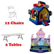Any Standard Bounce House 2 Tables 12 Chairs